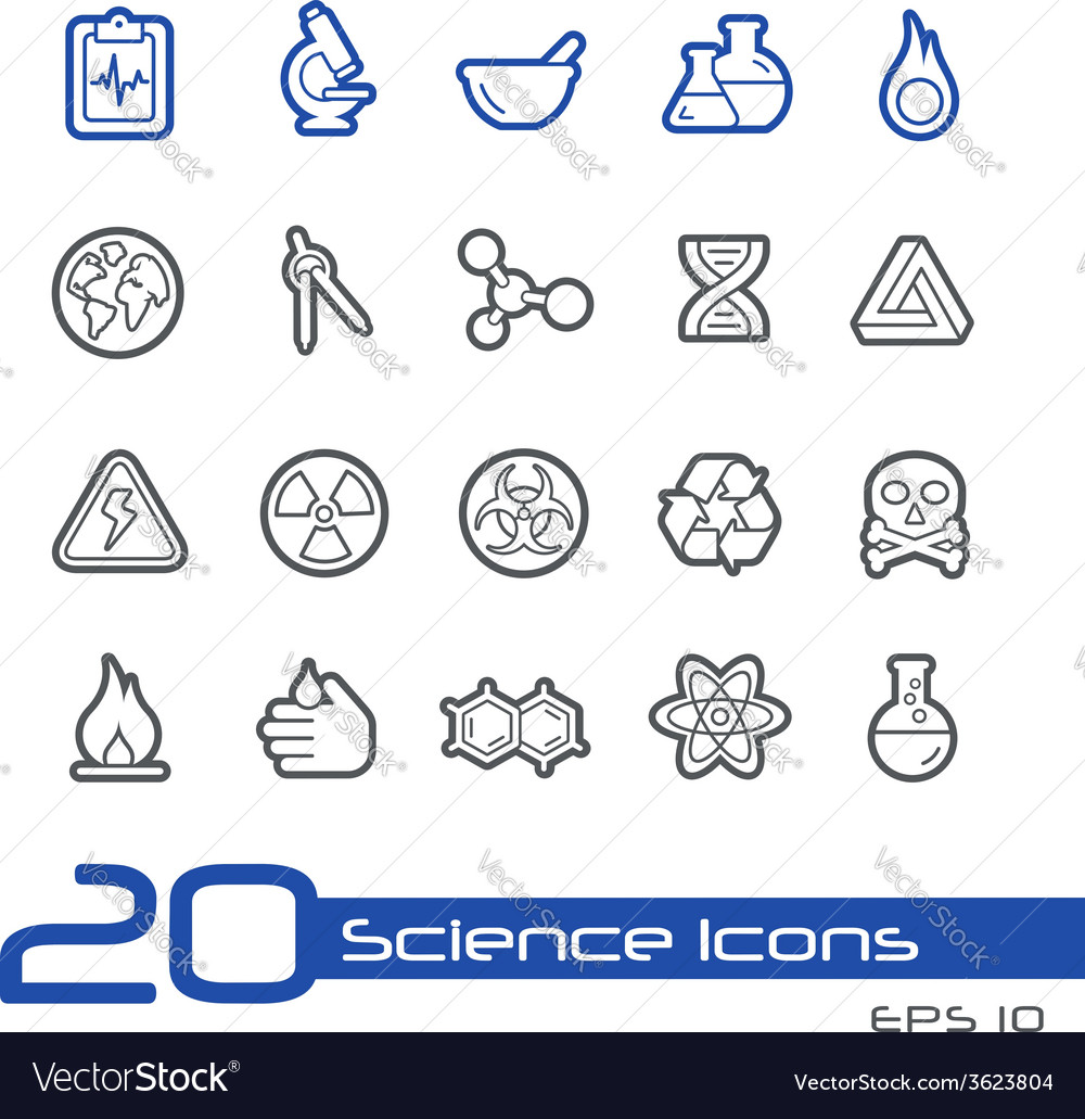 Science outline series vector | Price: 1 Credit (USD $1)