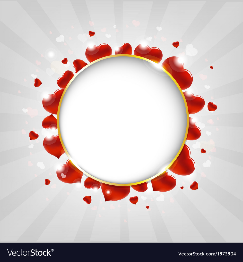 Valentines day with hearts and sunburst with bokeh vector | Price: 1 Credit (USD $1)