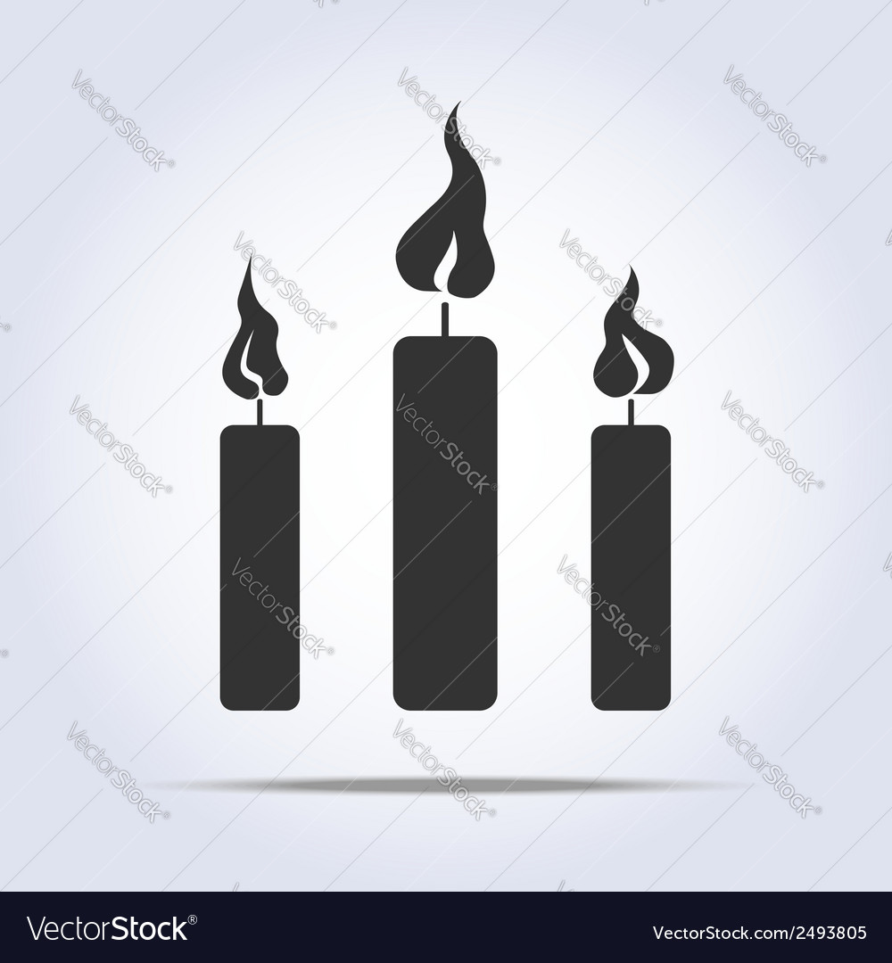 Candles icon vector | Price: 1 Credit (USD $1)