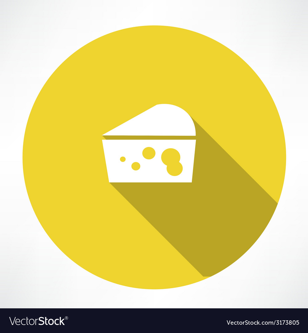 Cheese icon vector | Price: 1 Credit (USD $1)