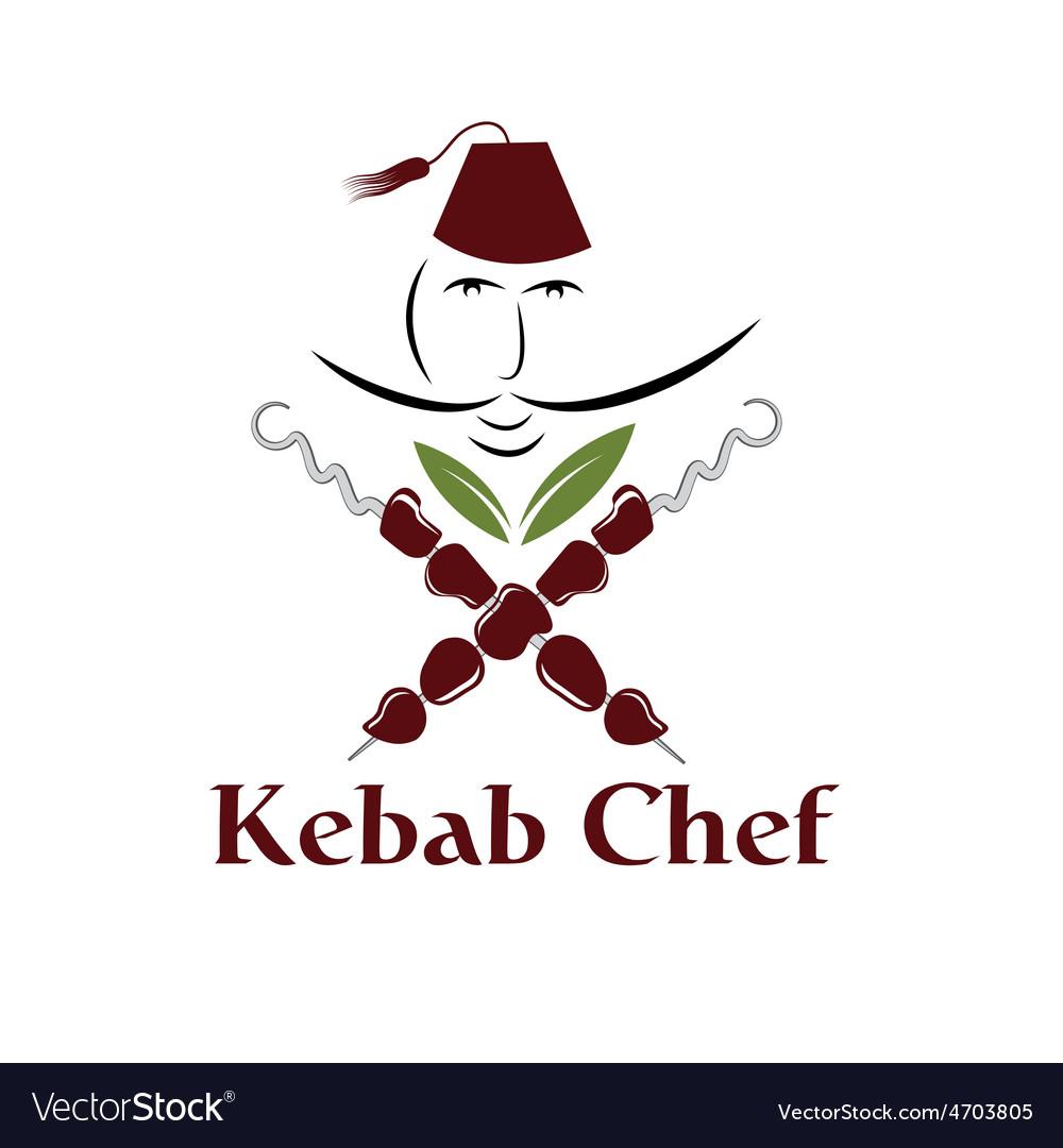 Kebab chef vector | Price: 1 Credit (USD $1)