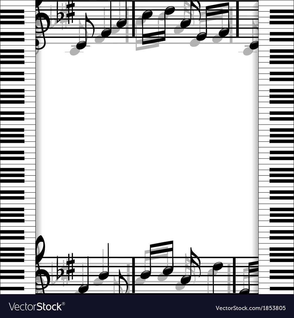 Musical frame vector | Price: 1 Credit (USD $1)