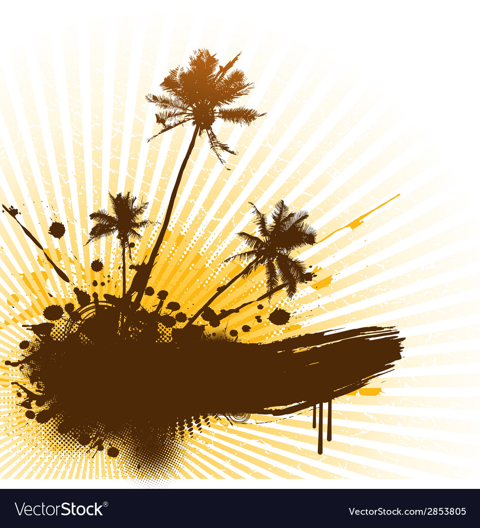Palms with place for text vector | Price: 1 Credit (USD $1)