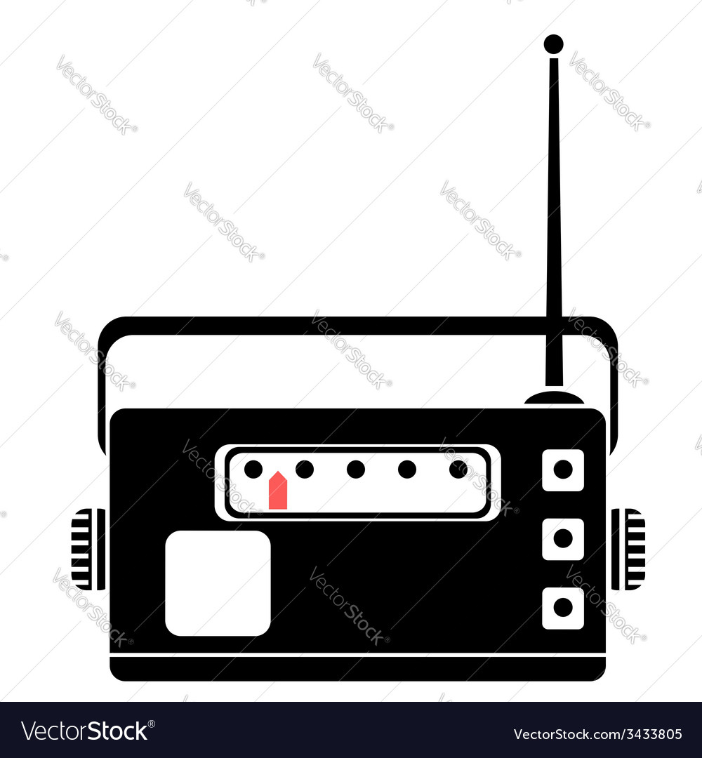 Radio silhouette vector | Price: 1 Credit (USD $1)
