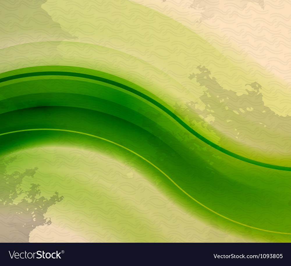 Retro vintage green wave abstract background vector | Price: 1 Credit (USD $1)