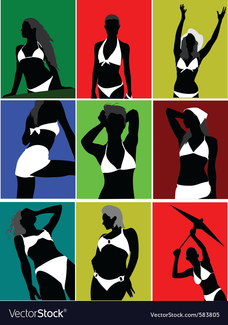 Silhouette poses vector | Price: 1 Credit (USD $1)