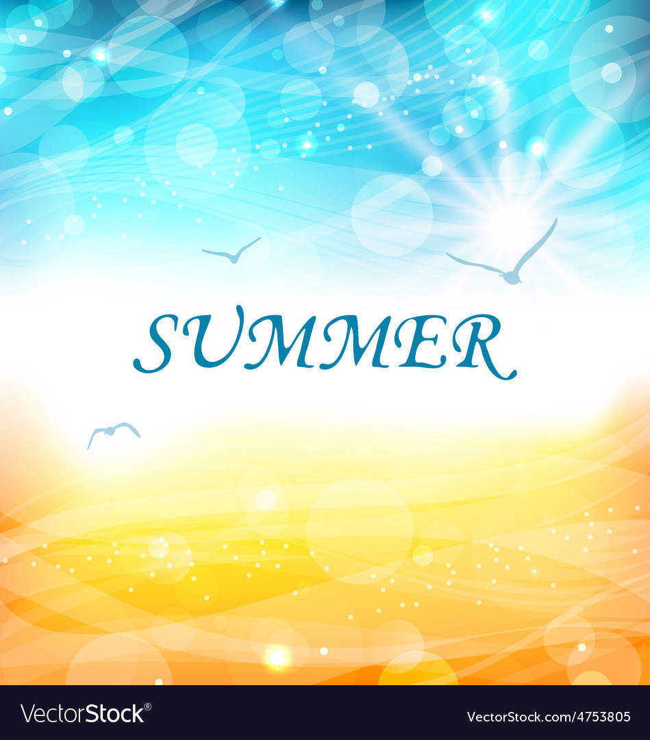 Summer holiday background glowing wallpaper vector | Price: 1 Credit (USD $1)