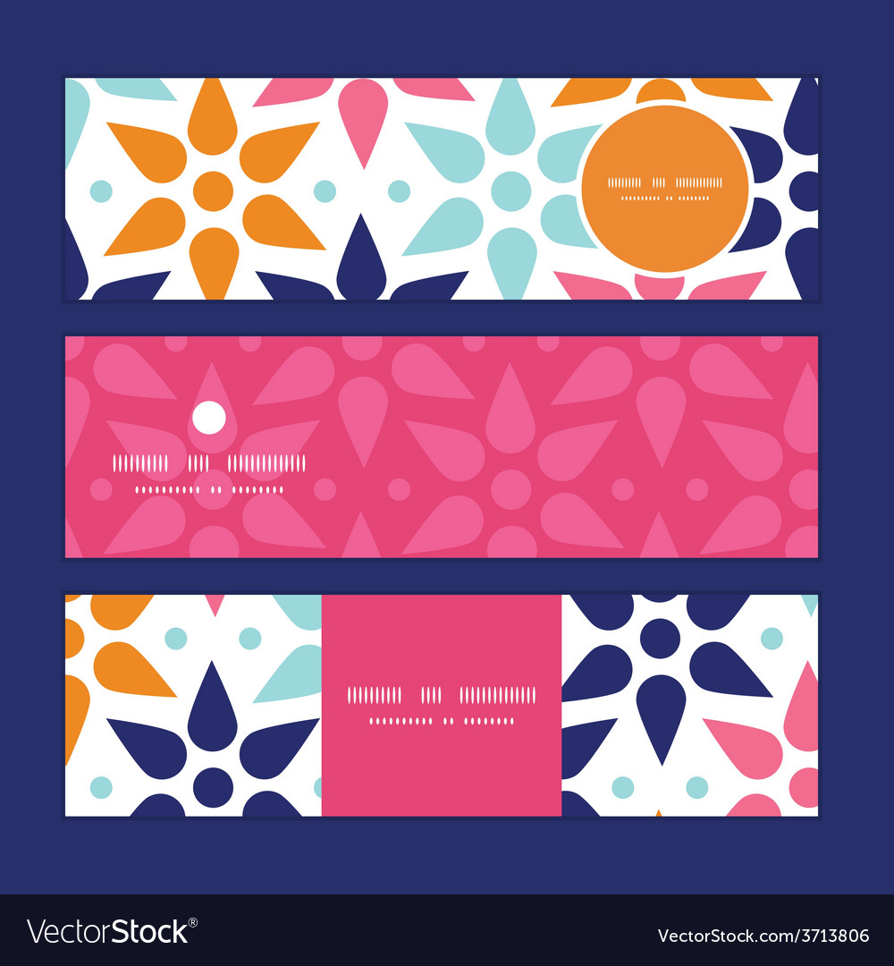 Abstract colorful stars horizontal banners vector   Price: 1 Credit (USD $1)
