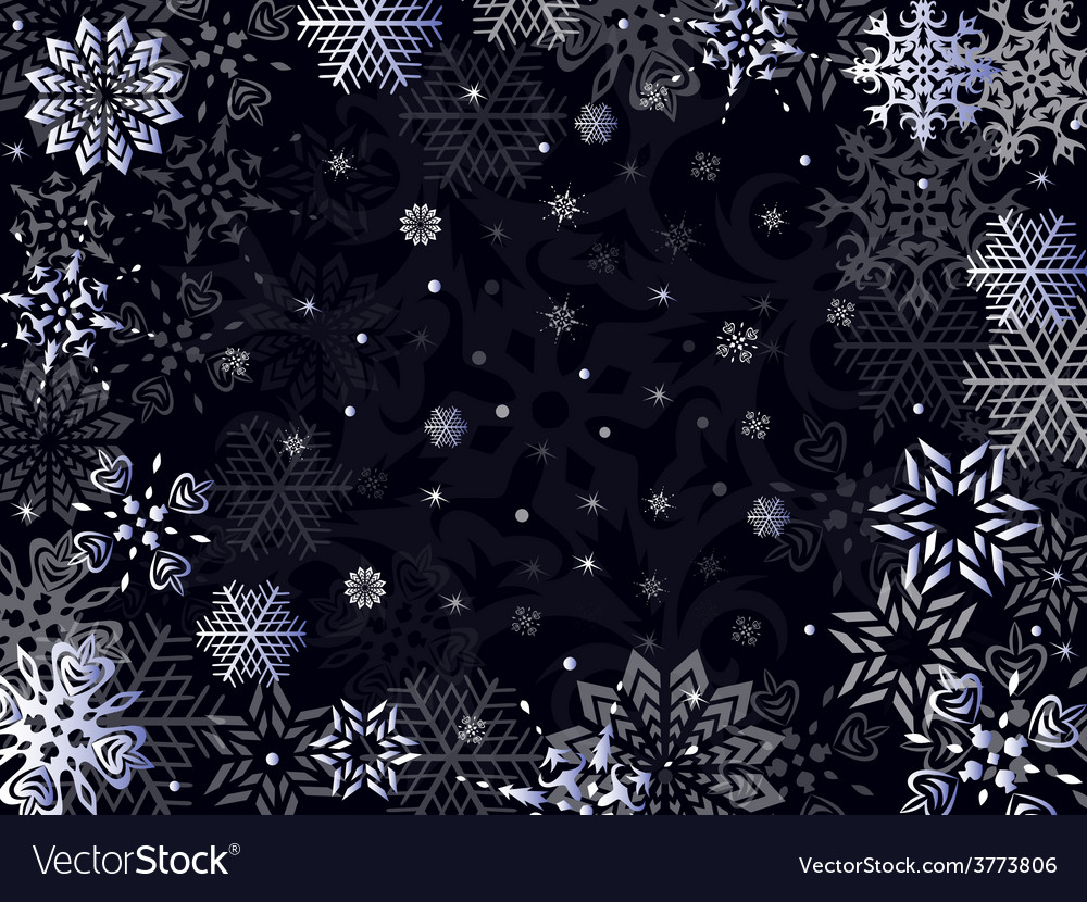 Christmas greeting card in dark blue hues vector | Price: 1 Credit (USD $1)