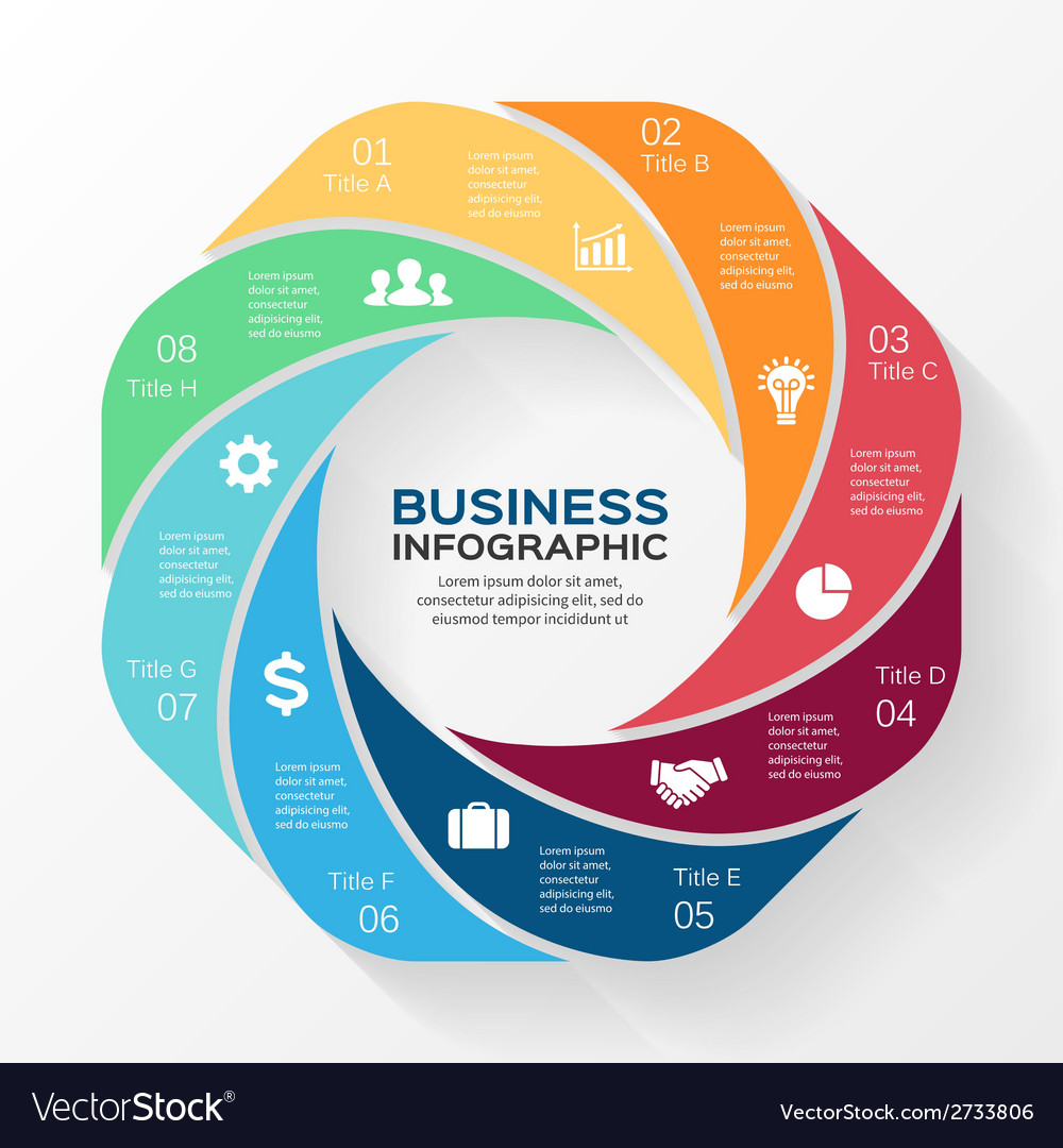 Circle infographic template for diagram business vector | Price: 1 Credit (USD $1)