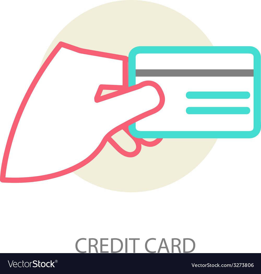 Hand holding credit card vector | Price: 1 Credit (USD $1)