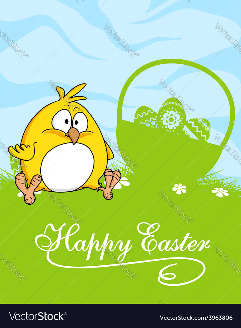 Happy easter greeting card design vector | Price: 1 Credit (USD $1)