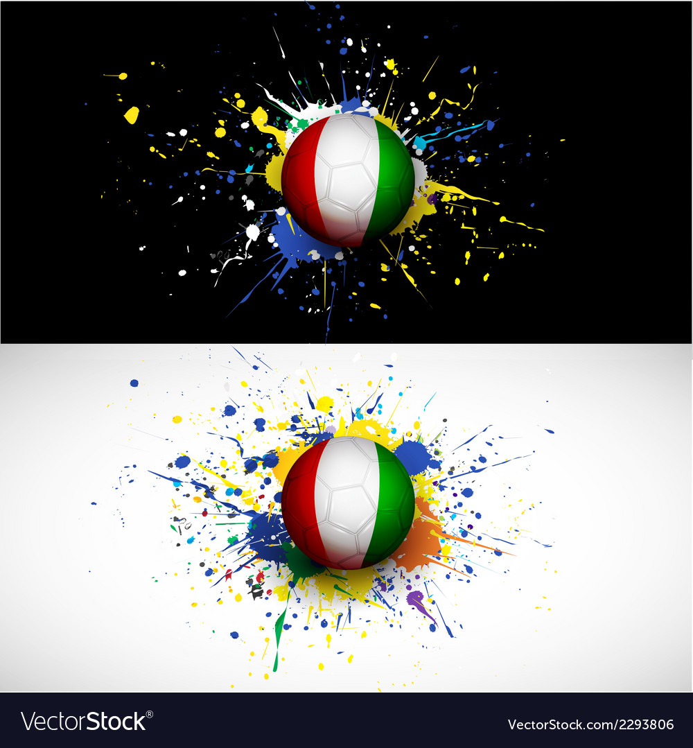Ivory coast flag with soccer ball dash on colorful vector | Price: 1 Credit (USD $1)
