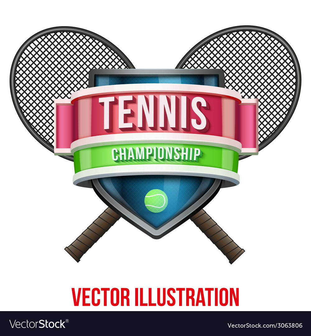 Label for tennis sport competition bright premium vector | Price: 3 Credit (USD $3)