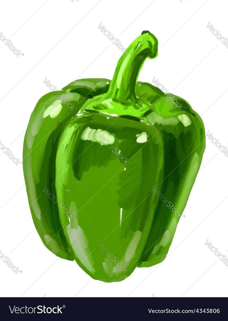 Picture of bell-pepper vector | Price: 3 Credit (USD $3)