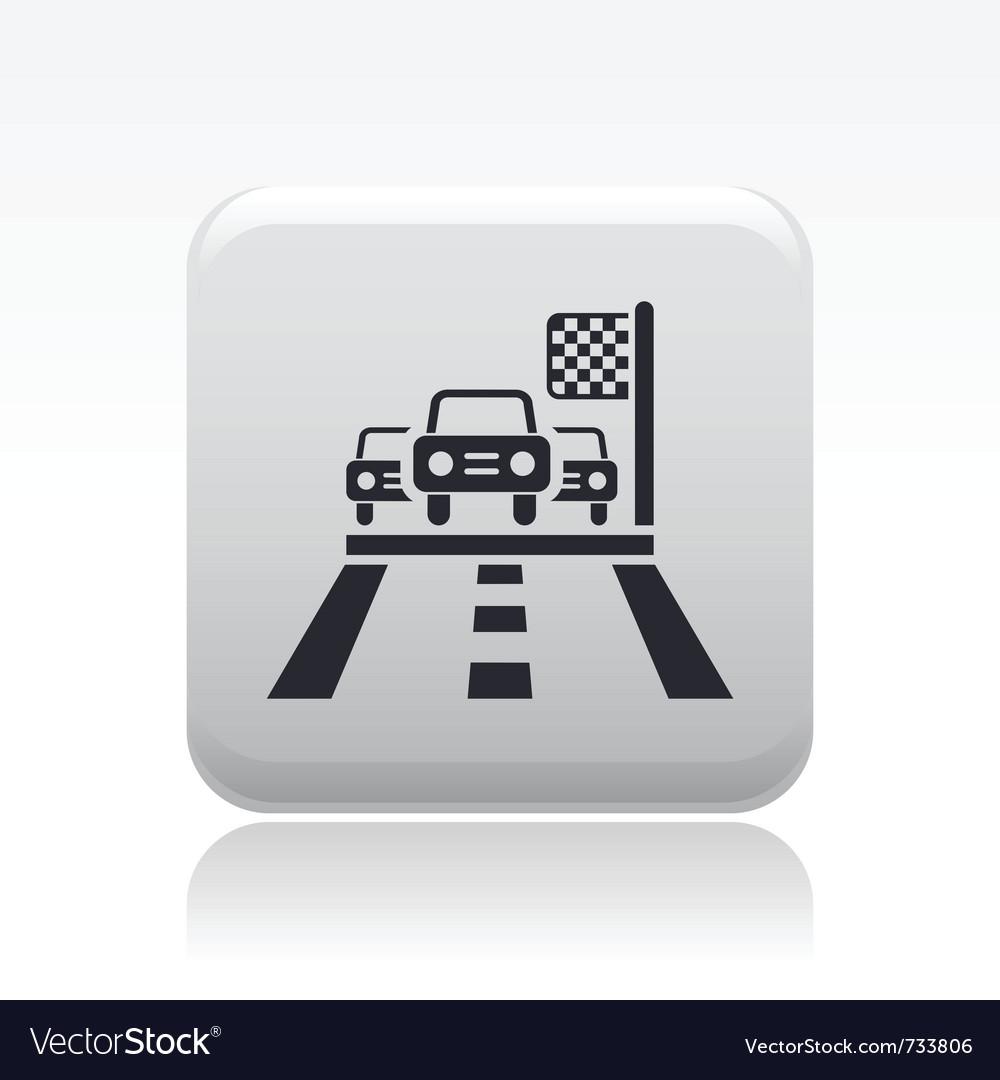 Race car icon vector | Price: 1 Credit (USD $1)