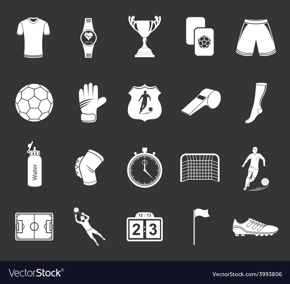 Set of icons or symbols of football vector | Price: 1 Credit (USD $1)
