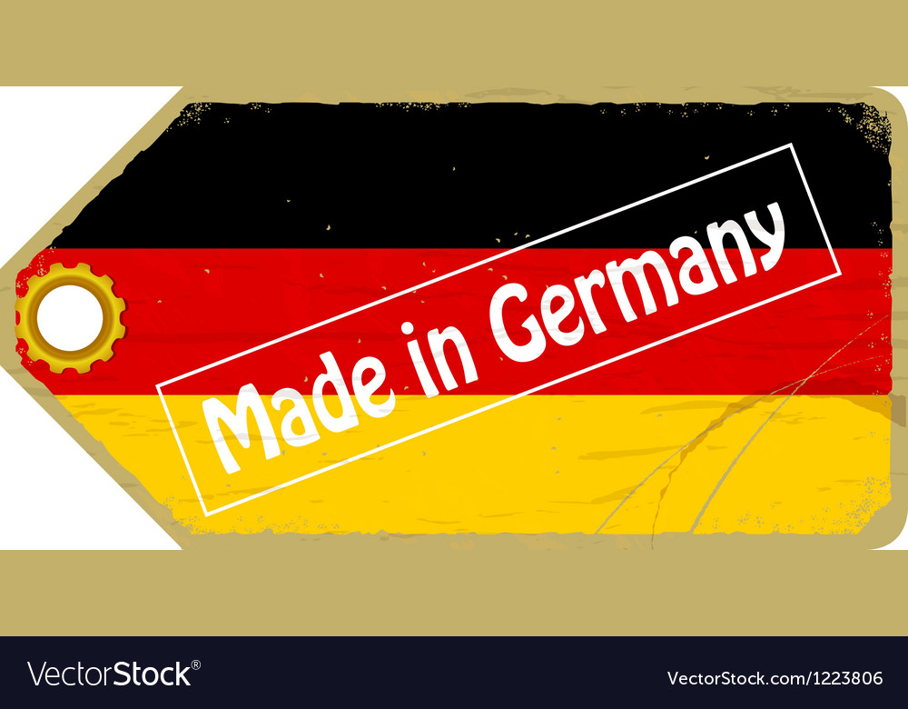 Vintage label with the flag of germany vector | Price: 1 Credit (USD $1)