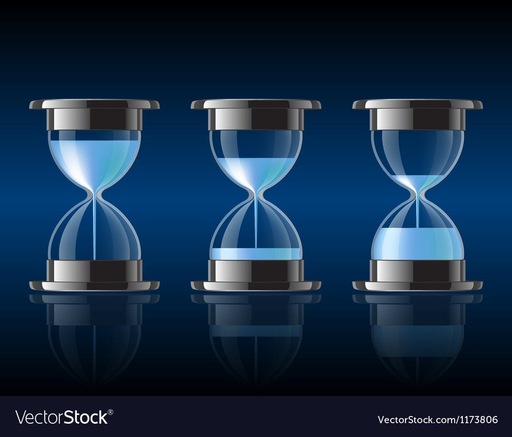Water falling in the hourglass vector | Price: 1 Credit (USD $1)