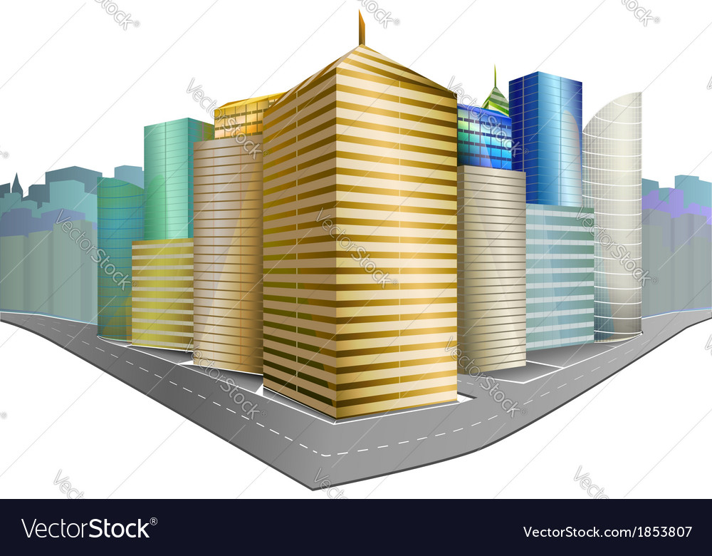 City district isolated vector | Price: 1 Credit (USD $1)