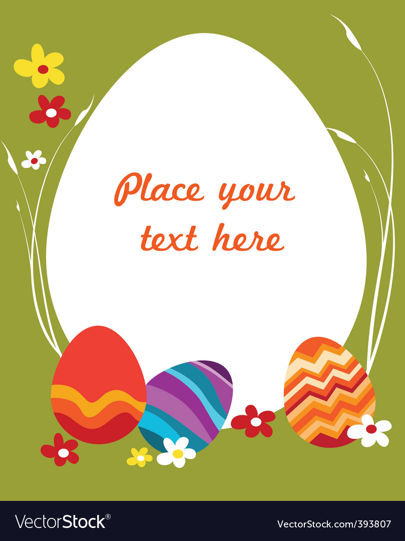 Easter card template vector | Price: 1 Credit (USD $1)