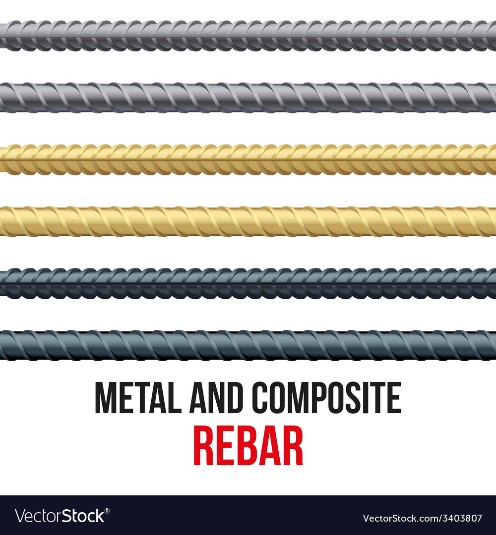Endless rebars reinforcement steel and composite vector | Price: 1 Credit (USD $1)
