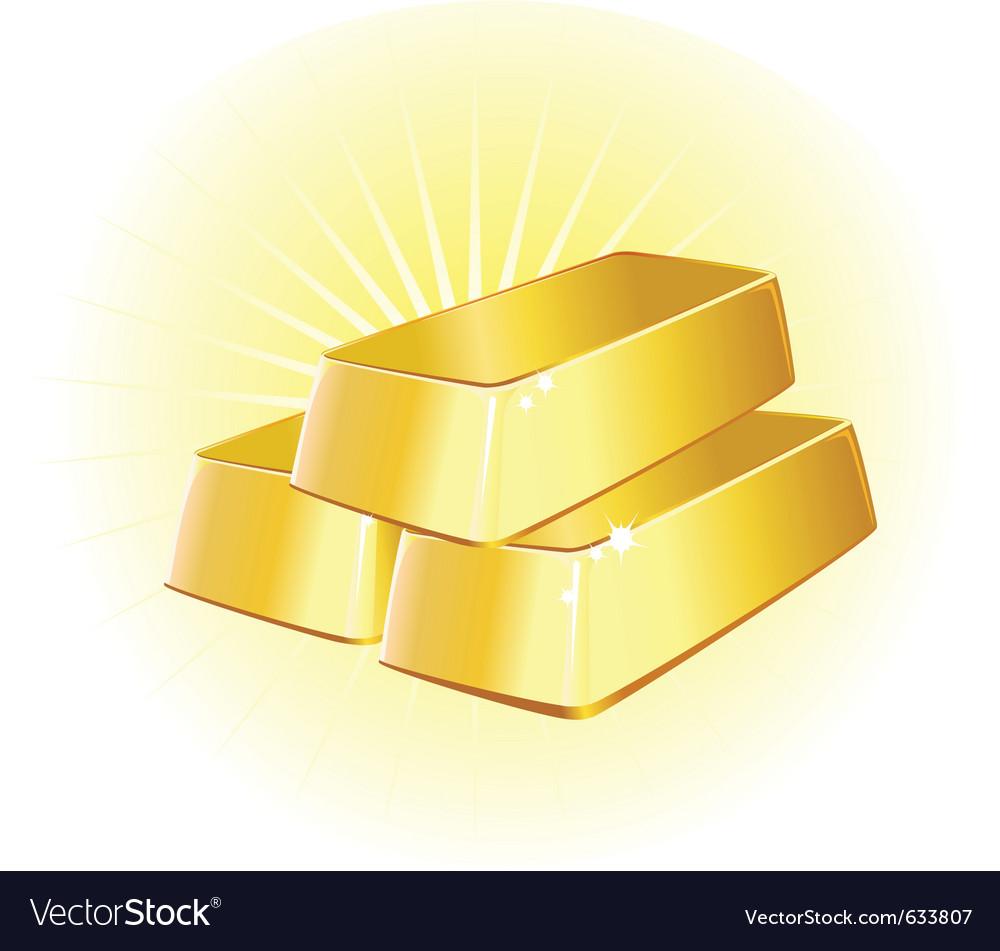 Gold ingots vector | Price: 1 Credit (USD $1)