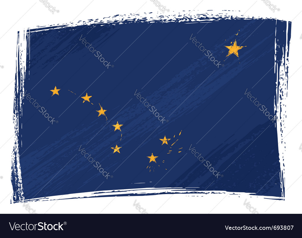 Grunge alaska flag vector | Price: 1 Credit (USD $1)
