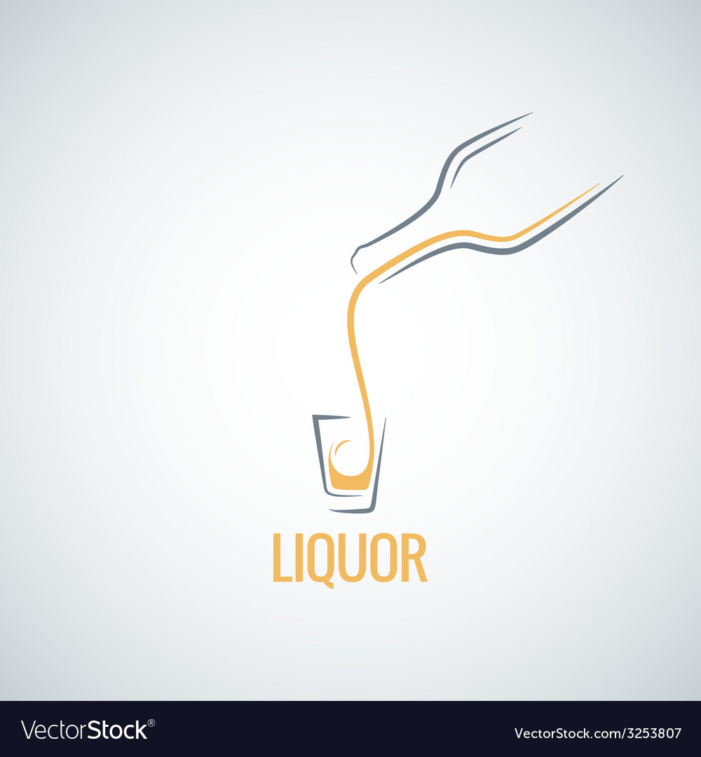 Liquor shot glass bottle background vector | Price: 1 Credit (USD $1)