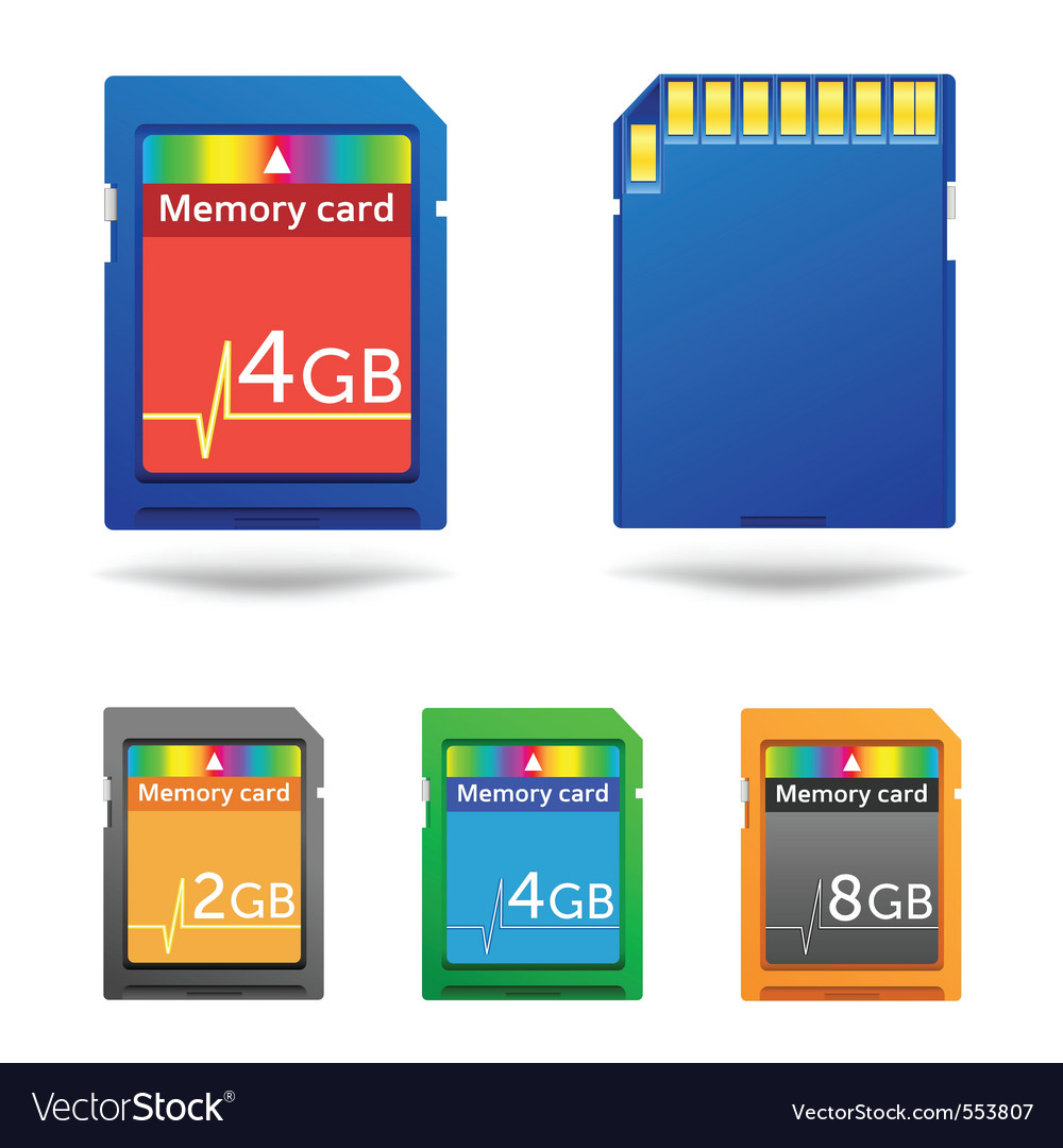 Memory cards vector | Price: 3 Credit (USD $3)