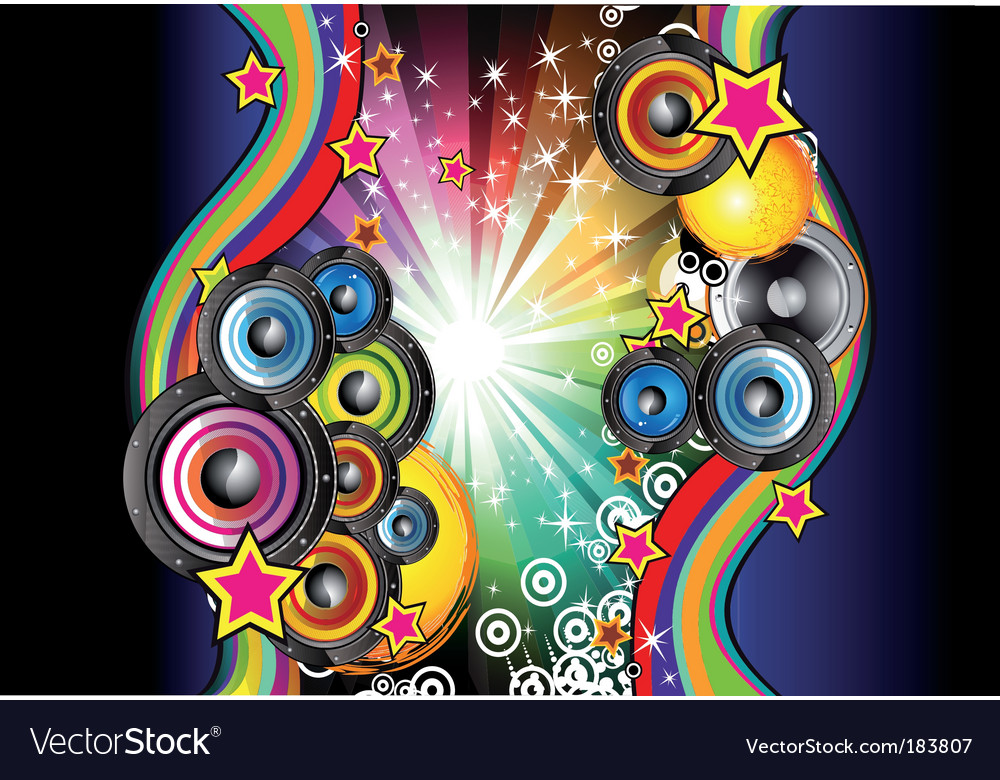 Music background for disco flyers vector | Price: 3 Credit (USD $3)