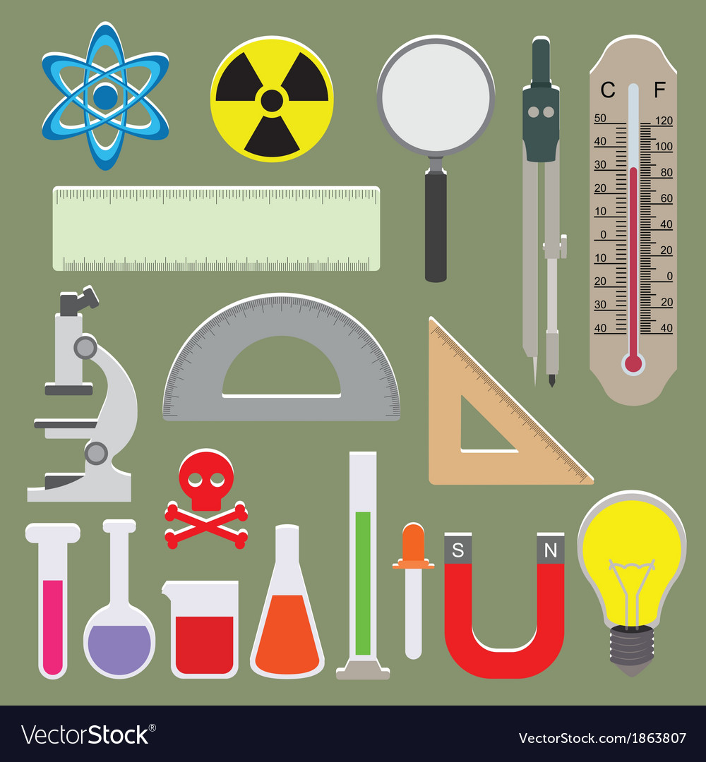 Set of science icons vector | Price: 1 Credit (USD $1)