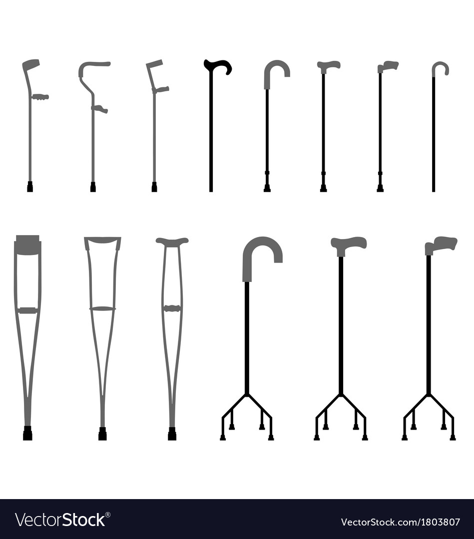 Sticks and crutches vector | Price: 1 Credit (USD $1)