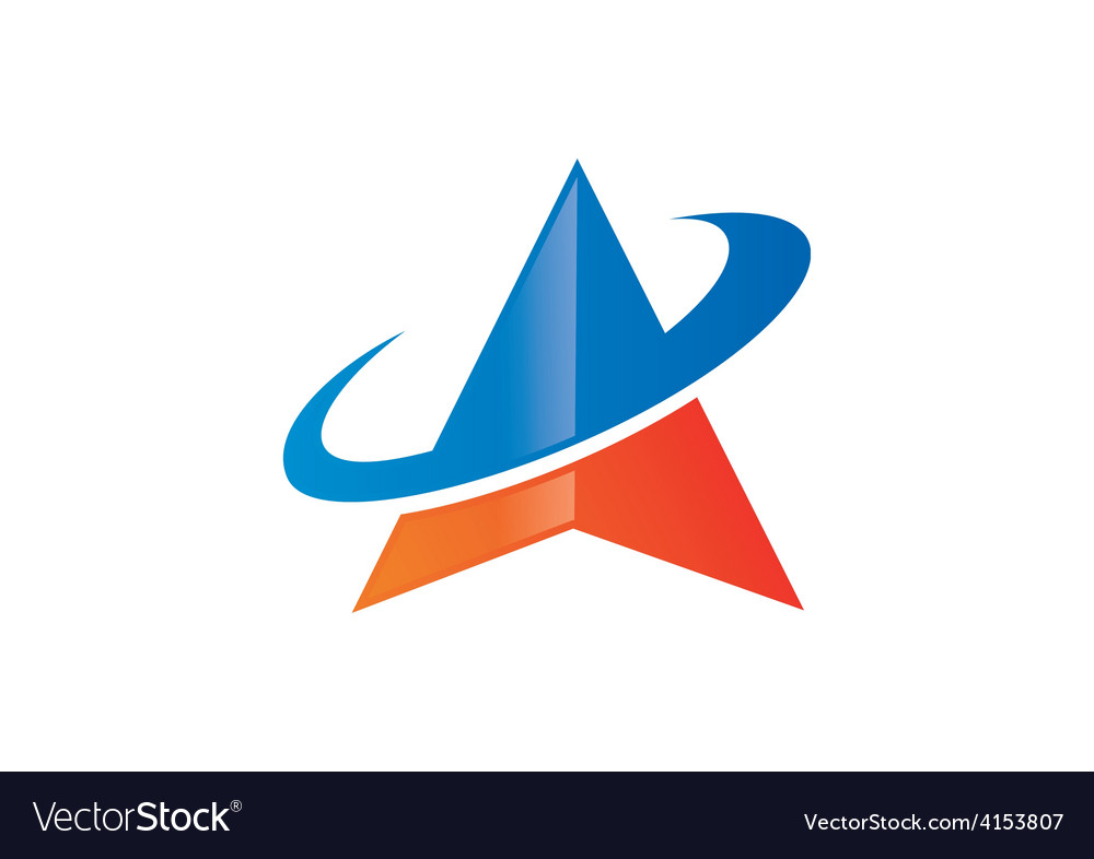 Triangle orbit business finance logo vector | Price: 1 Credit (USD $1)
