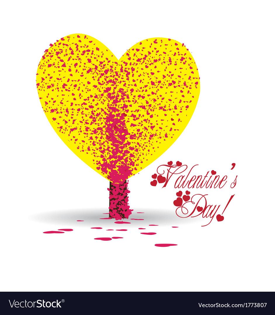 Valentine tree heart vector | Price: 1 Credit (USD $1)