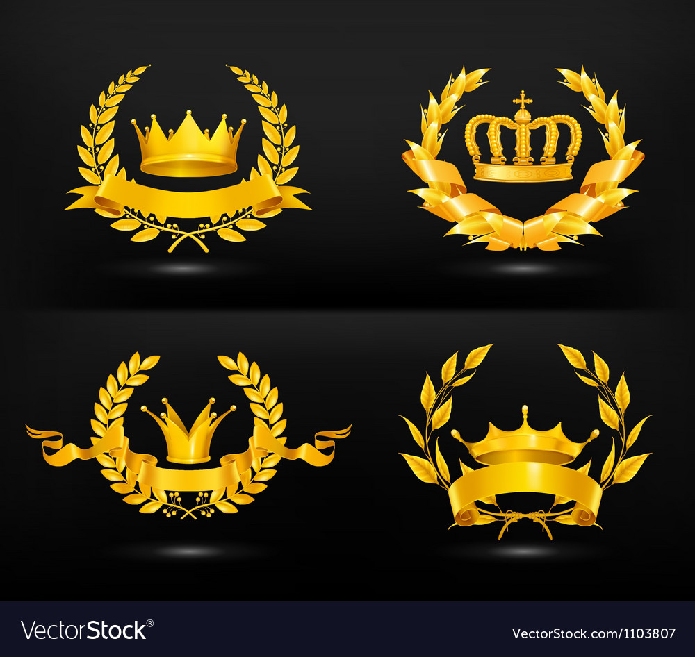 Vintage emblem set on black vector | Price: 1 Credit (USD $1)