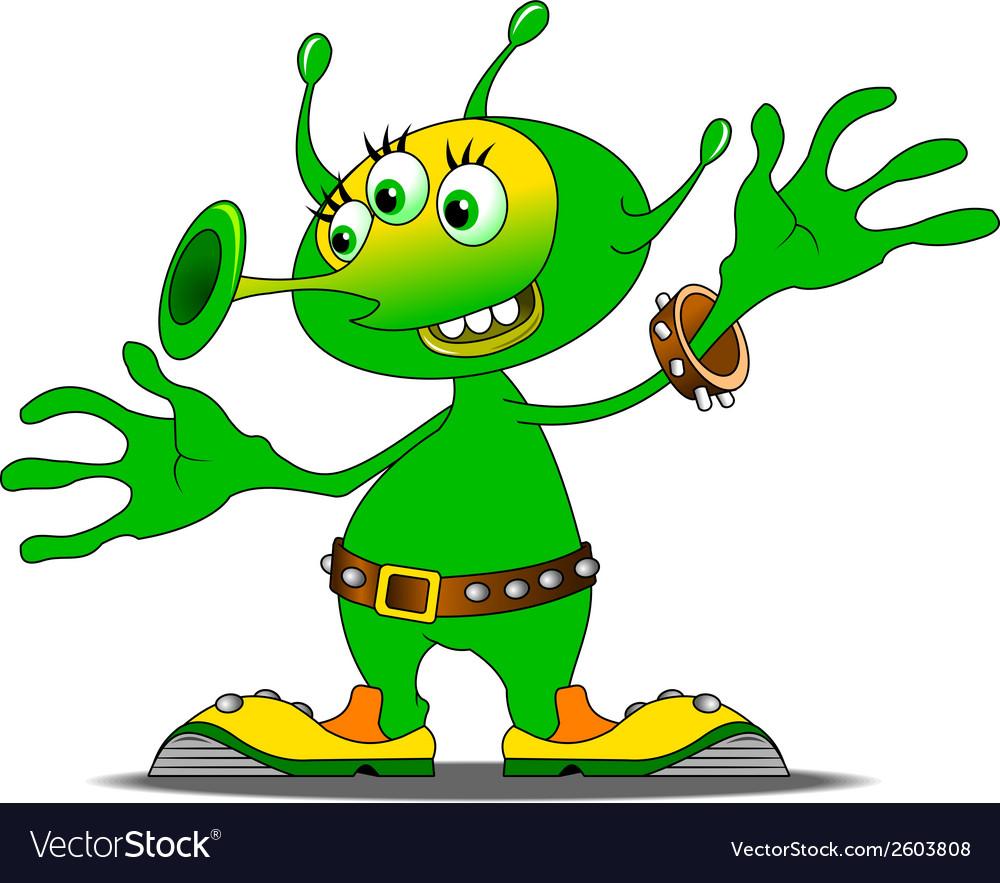 Alien cartoon vector | Price: 1 Credit (USD $1)