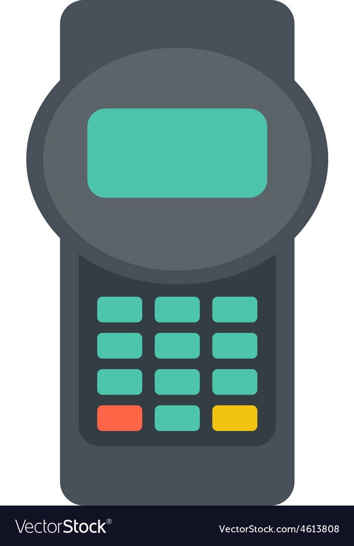 Credit card reader vector | Price: 1 Credit (USD $1)