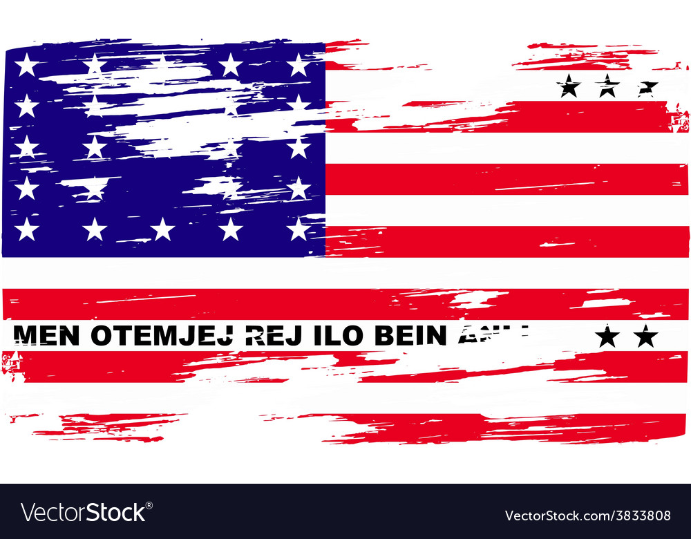 Flag of bikini atoll with old texture vector | Price: 1 Credit (USD $1)