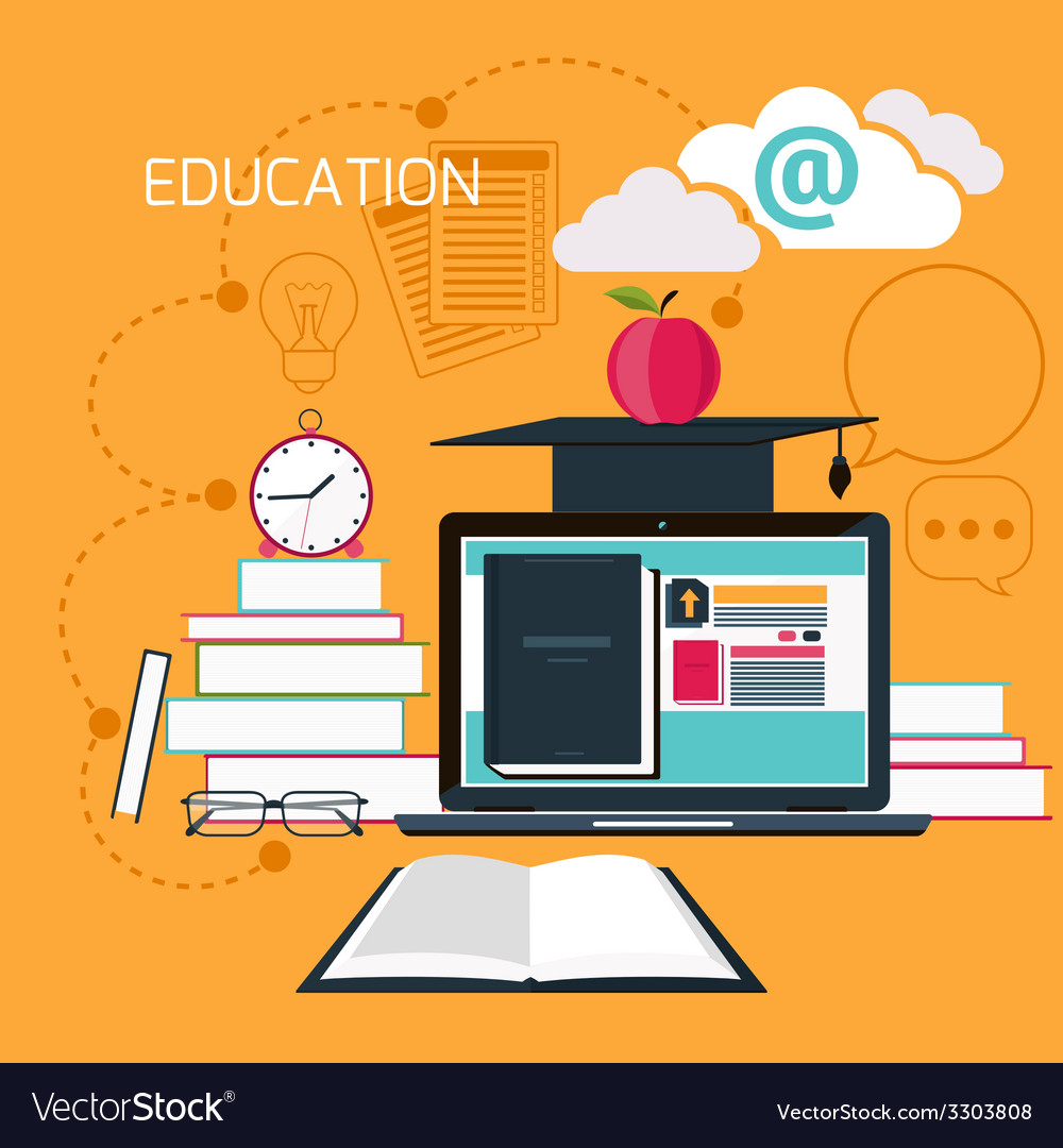 Online education professional education vector | Price: 1 Credit (USD $1)