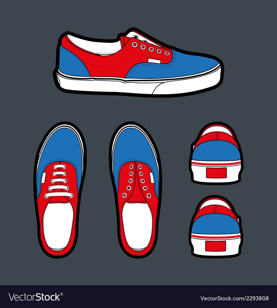 Shoes authentic vector | Price: 1 Credit (USD $1)