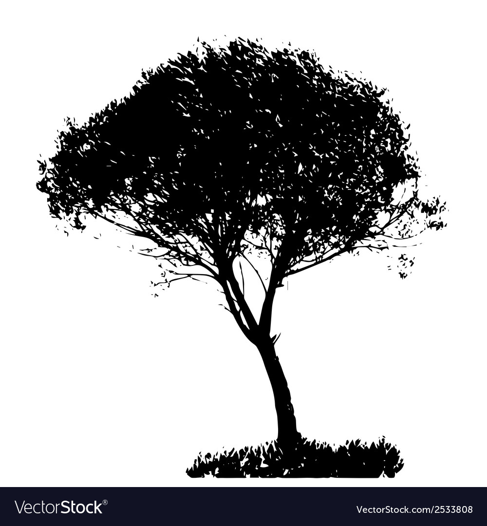 Tree silhouette isolated on white backgorund vector   Price: 1 Credit (USD $1)
