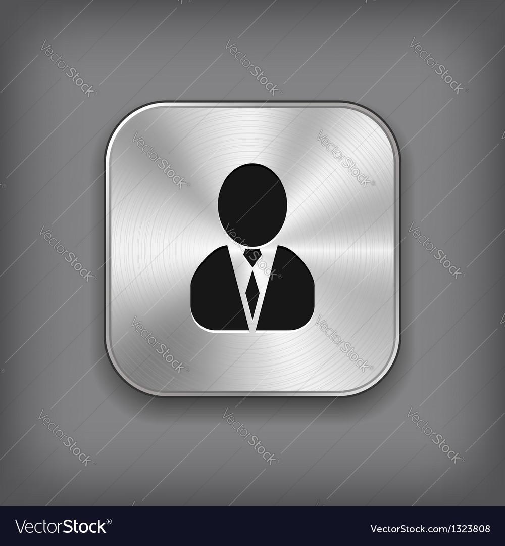 User icon - metal app button vector | Price: 1 Credit (USD $1)