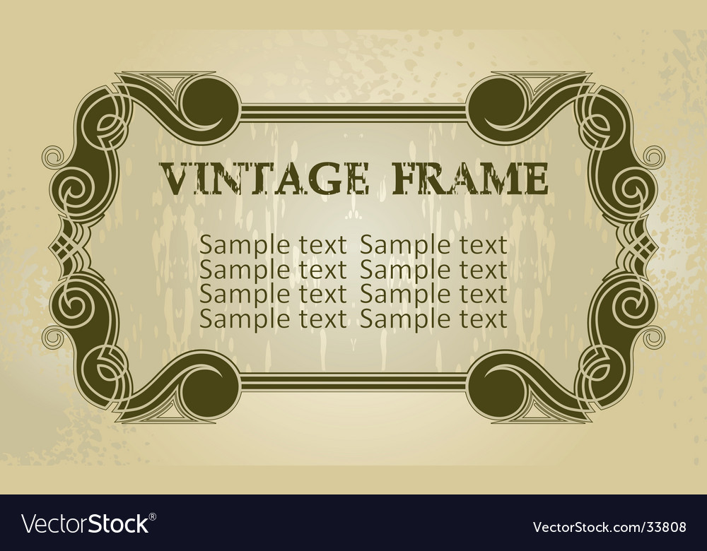 Vintage decorated boarder vector | Price: 1 Credit (USD $1)