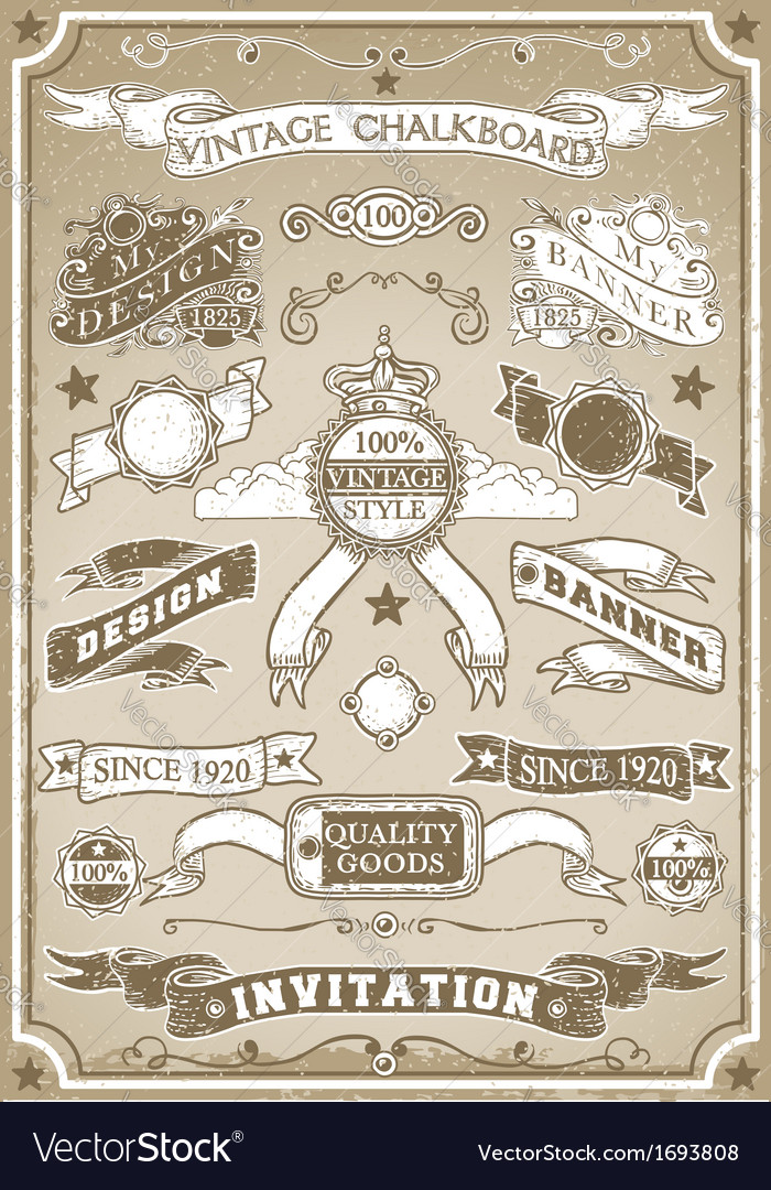 Vintage hand drawn graphic page banner vector | Price: 1 Credit (USD $1)