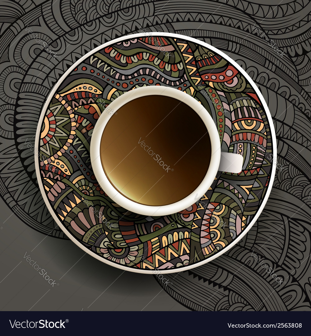 With a cup of coffee vector | Price: 1 Credit (USD $1)
