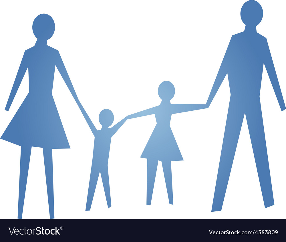 Abstract symbol of happy family vector | Price: 1 Credit (USD $1)