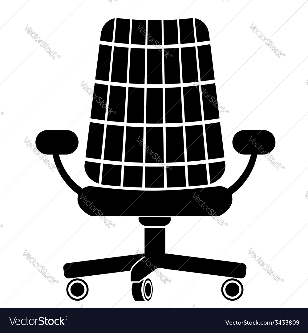 Chair silhouette vector | Price: 1 Credit (USD $1)