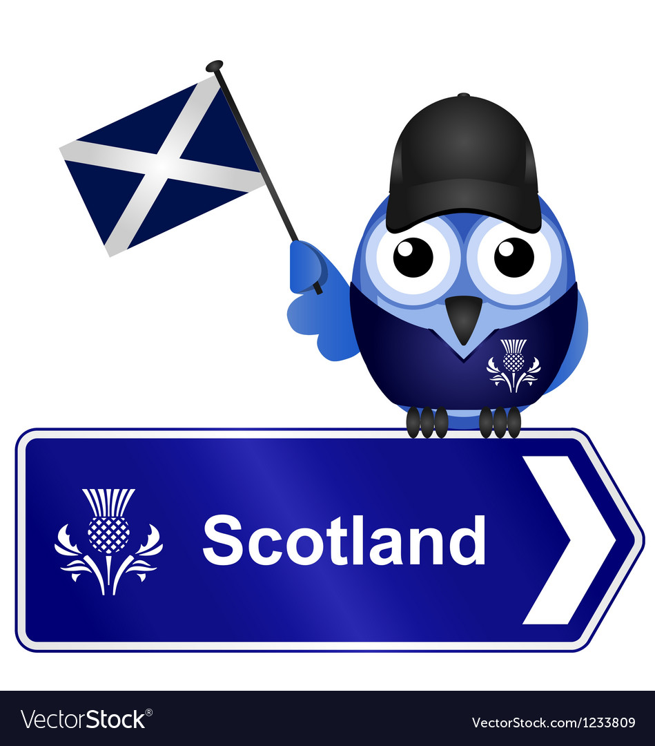 Country sign scotland vector | Price: 1 Credit (USD $1)