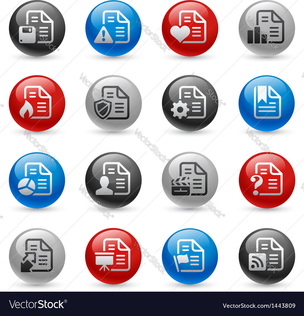 Documents icons vector | Price: 1 Credit (USD $1)